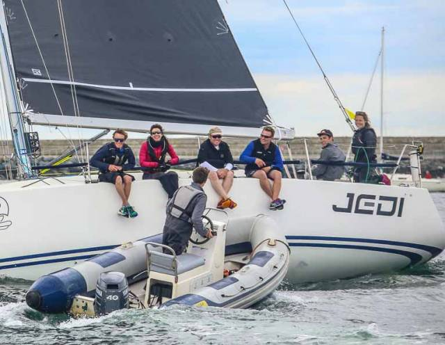 This year the Irish National Sailing & Powerboat School in Dun Laoghaire celebrates its 40th Birthday and part of the celebrations will include Chief Insructor Kenneth Rumball's recount of the 2017 Fastnet Race on the school's J109, Jedi