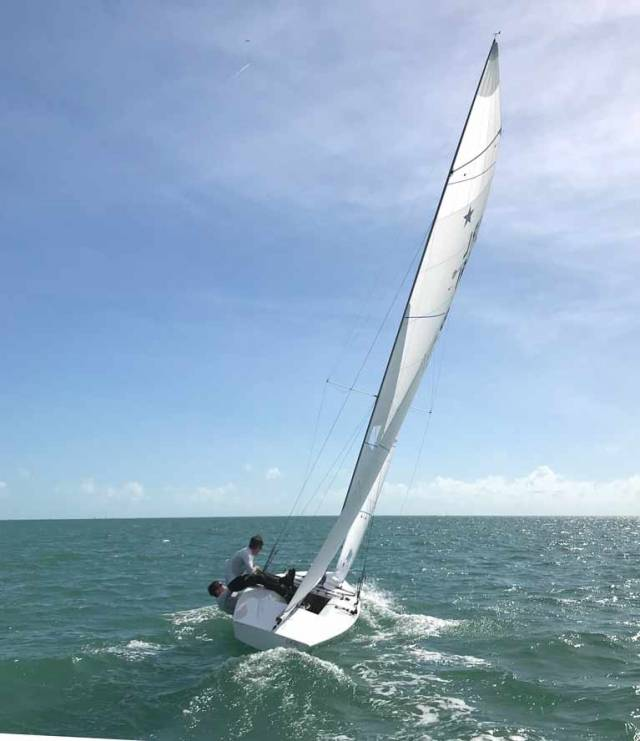 Peter and Robert O'Leary sailing their new Star boat Dafnie were clear winners of the American Mid Winters in Miami