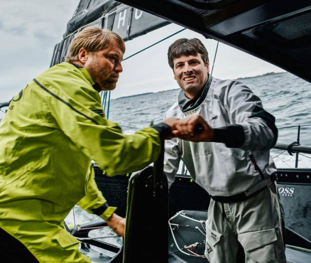Alex Thomson (left) and Nicholas O'Leary will race together in the Fastnet Race