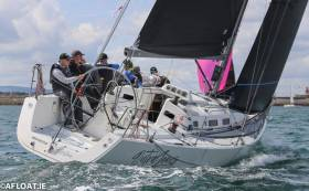 Class One leader at Volvo Dun Laoghaire Regatta is Howth J/109 Outrajeous