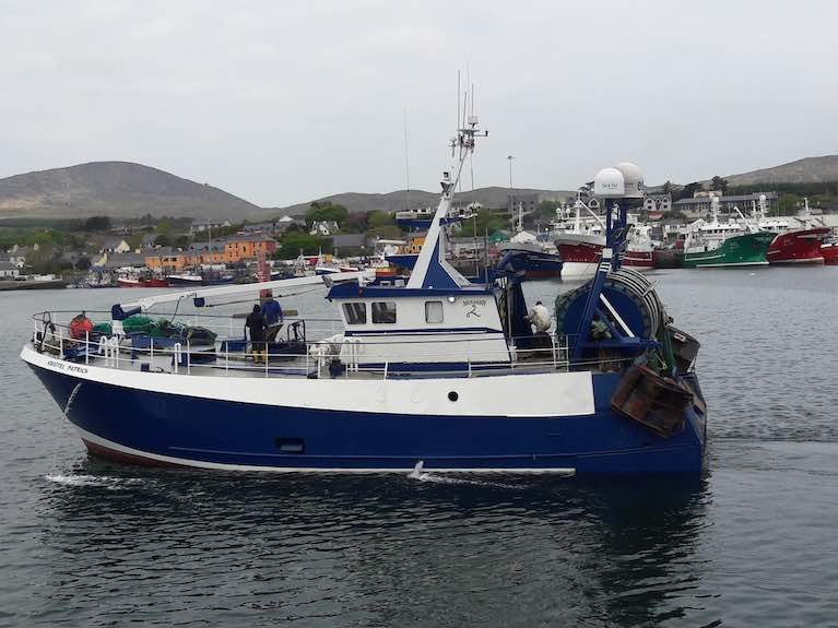Paddy Mulvany's Kristel Patrick which fishes for 40 per cent of the year in the Celtic Sea, primarily for prawns
