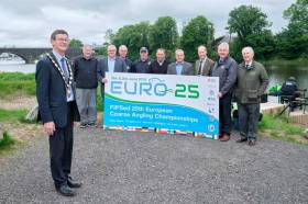 Chair of Mid Ulster District Council, Councillor Martin Kearney, at the launch of the 25th European Coarse Fishing Championships at Portglenone