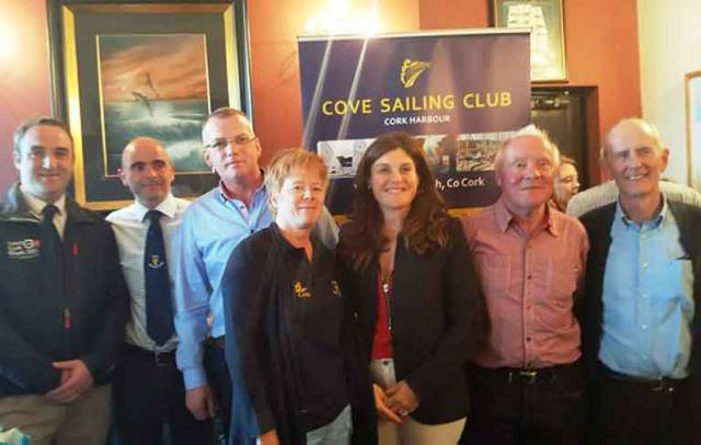 Cove SC, MBSC and RCYC Club Officers at the Cove SC launch
