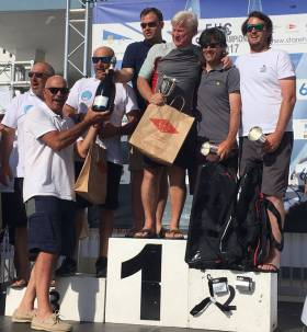 Peter and Rob O'Leary (right) were second overall in the Star class Eastern Hemisphere Championships in Viareggio