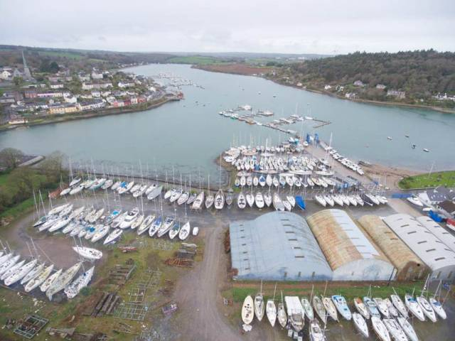 Though no longer in the boatbuilding trade, Crosshaven Boatyard employs seven as a storage and servicing facility