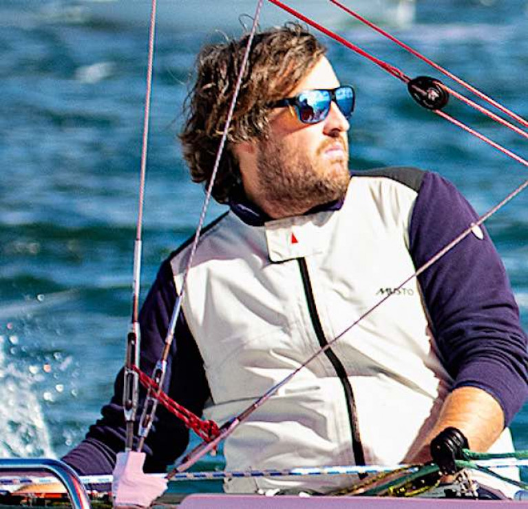 Winning form – Rob O'Leary on his way to victory in the 1720 Munsters in Cork Harbour last weekend