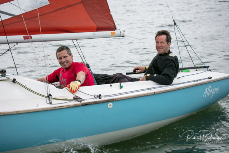 Colm Dunne (right) and Rob Gill's Allegro leads at Cove Sailing Club. Scroll down for photo slideshow