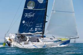Phil Sharp's Imerys - seen here competing in the recent Normandy Channel Race - is a class favourite in this year's RB&I