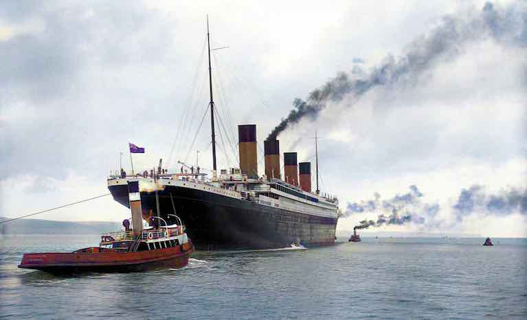 RMS Titanic Comes Alive in Colour in New Book of Old Ireland