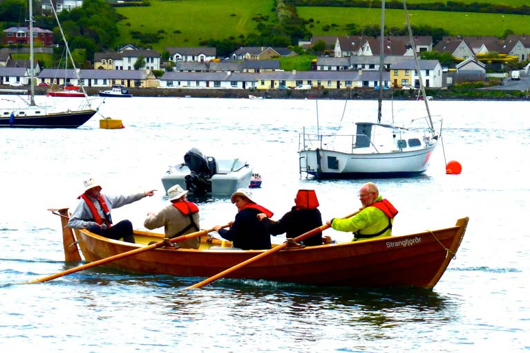 Strangford village's own-build St Ayle's Skiff. A sister-ship is to be built in Kilrush by Seol Sionna, builders and owners of the gaff cutter Sally O'Keeffe