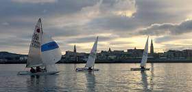 Light winds for today's DMYC Frostbite race inside Dun Laoghaire Harbour