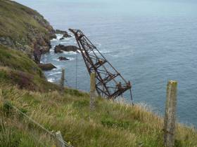 The Samson Crane Ship at Ram Head near Ardmore, Co Waterford