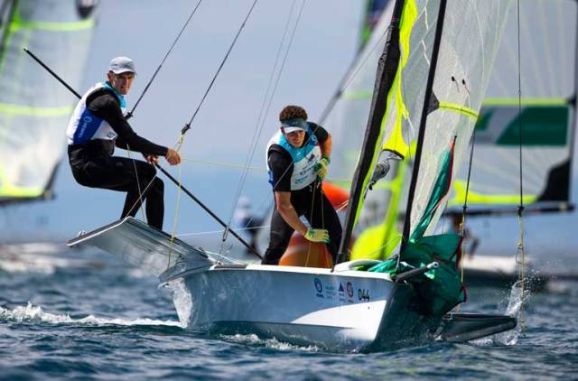 Robert Dickson and Sean Waddilove took a second place in the first day of the World Cup in Genoa