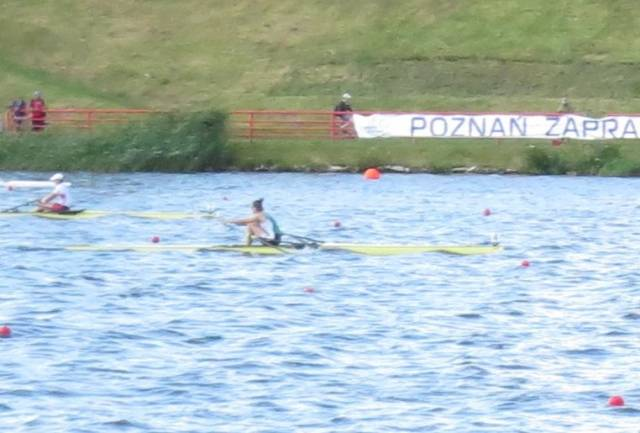 Monika Dukarska on her way to winning her Repechage in Poznan.