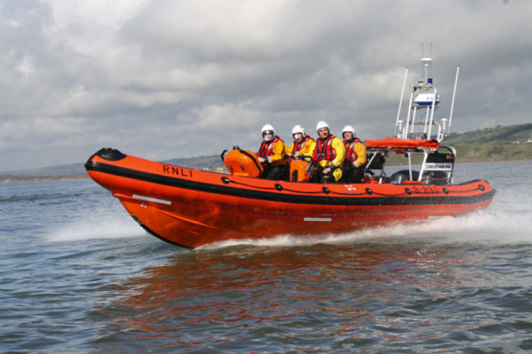 Youghal RNLI's inshore lifeboat on a previous launch