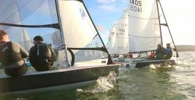 RS400s racing on Belfast Lough
