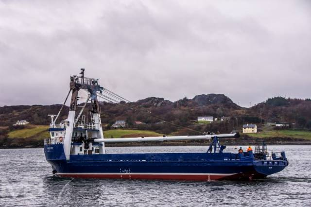 Bláth na Mara as seen underway in March following work carried out in Killybegs, however further maintenance took place in her homeport of Galway.