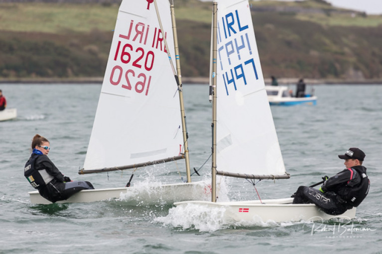 Optimists racing in RCYC Burns Trophy. See slideshow below