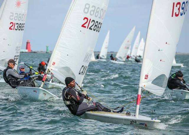 Breezy conditions continue on Dublin Bay for the Laser Master World Championships
