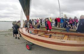 IDRA 14 Number 166 is launched – 'Wicked Sadie' on her maiden sail at Clontarf Yacht & Boat Club