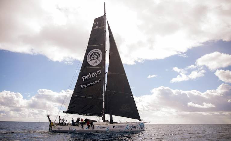 Johannes Schwarz's Volvo 70 Green Dragon is expected to take Monohull Line Honours n the RORC Transatlantic Race