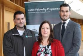 James Fahy (UCD), Martina Maloney (Marine Institute) and Philip Stephens (NUIG) at the Cullen Fellowship Programme event in Oranmore last week