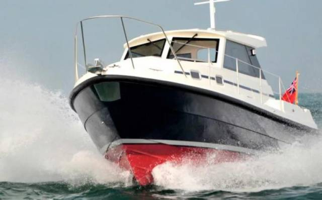 The pilot boat, like this one, was set alight and sunk in the early hours of Saturday 27 January