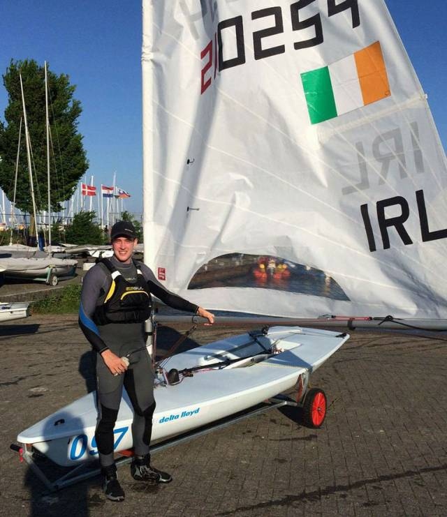Finn Lynch finished tenth overall at Delta Lloyd Regatta