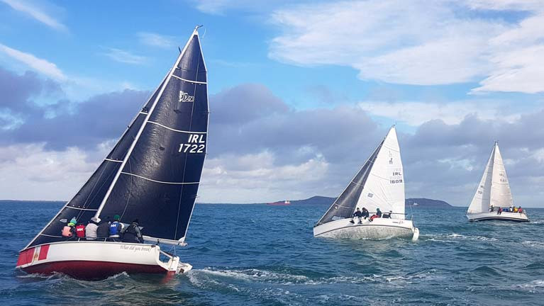 Racing in the fourth race of the DBSC Spring Chicken Series