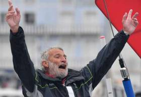 73-year-old Jean-Luc Van Den Heede became the oldest man ever to complete and win a solo non-stop round-the-world race