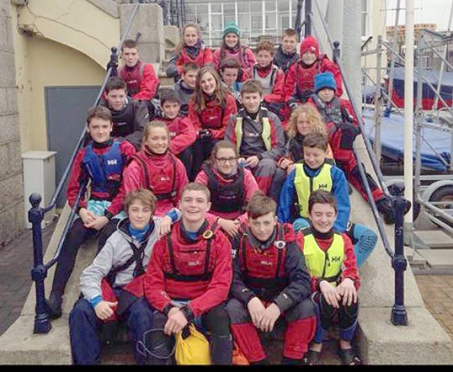 RS Feva Eater clinic participants at the Royal St. George YC in Dun Laoghaire