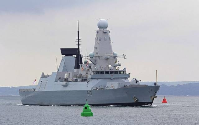 HMS Duncan pictured in Portsmouth this summer