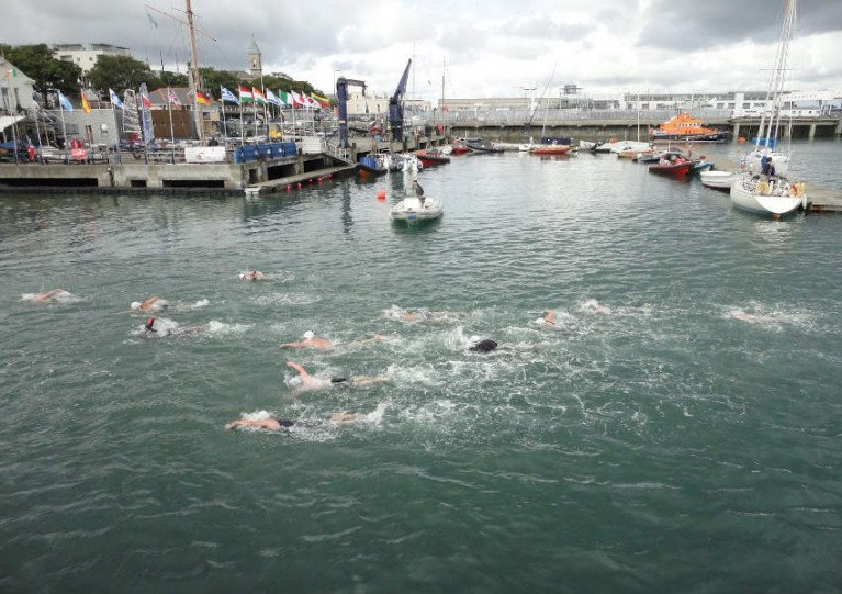 Competitors in a previous Dun Laoghaire Harbour Swim