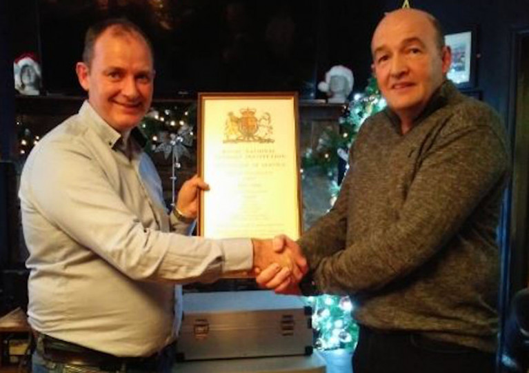 Retiring Youghal RNLI Volunteer Recognised For 30 Years Of Service