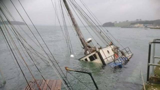 'Urgent' Assistance Sought to Raise Sunken Schooner in Portaferry