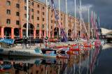 The Clipper Race fleet lined up at Liverpool's Albert Dock