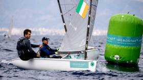 Baltimore's Fionn Lyden who reached gold fleet in Palma in March is now looking for a Tokyo slot at the Finn Euros next week in Athens