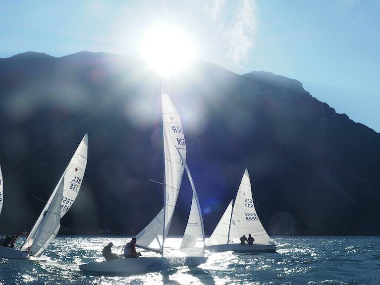 Small Star Fleet Compete for European Honours on Lake Garda, Italy