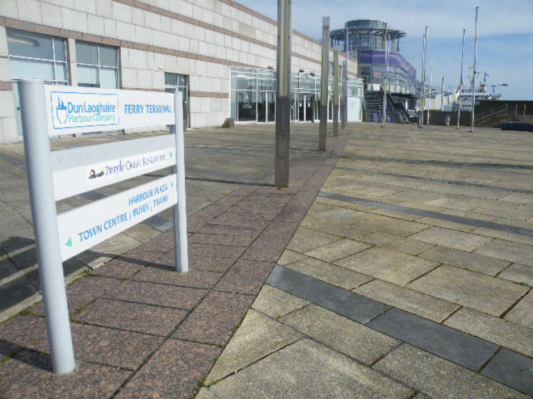 The former Stena ferry terminal at Dun Laoghaire