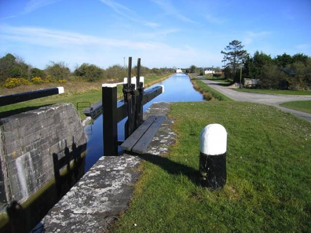 Swimming is prohibited at infrastructure such as locks such as this on the Royal Canal near Kinnegad