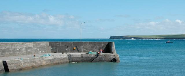 Lacken Pier in Co Mayo has a memorial to the lives lost in the October 1927 drowning tragedy
