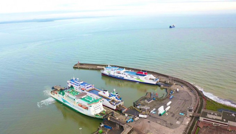 Rosslare Port in County Wexford hopes it will be busier as a result of Brexit. Above ferries (l-r) serving UK, Spain and France occupy berths.