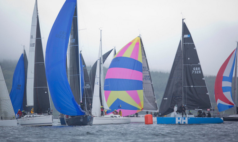 Racing at the 2019 Scottish Series