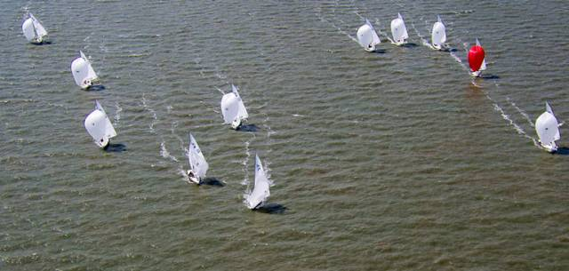 Etchells racing on the Solent