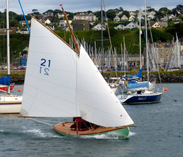 The new Howth 17 Orla bound for her first race on Tuesday August 1st