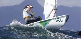 Ireland's Annalise Murphy will resume racing tomorrow after today's Laser Radial medal race was postponed