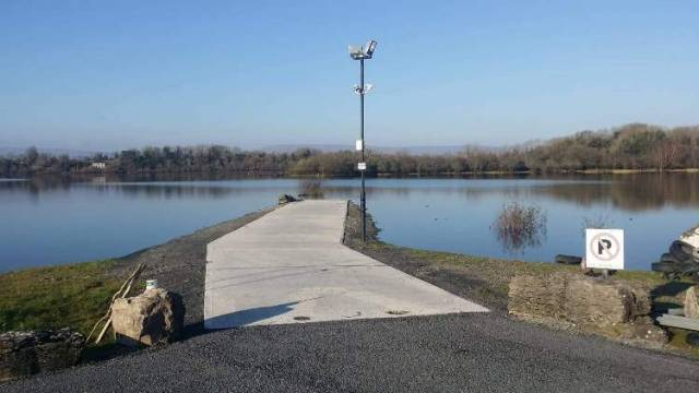 The upgraded slipway at Cushlough Bay delivered by Ballinrobe & District Anglers and the World Cup Trout Fly Championship Committee
