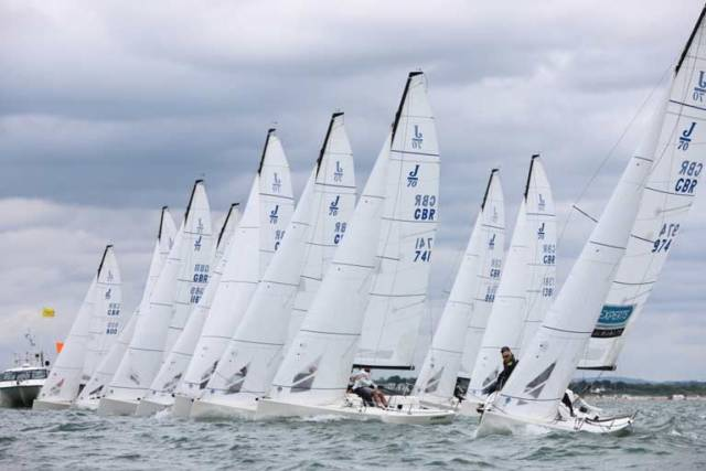 Wicklow's Marshall King is in action at the J/70 UK National Championship kicks off this UK Bank Holiday weekend