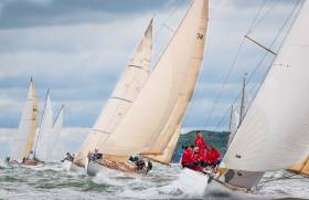 Classic boat action at Cowes