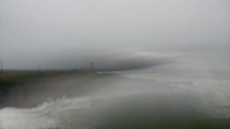 Storm Dennis whipping up at Hook Lighthouse in Co Wexford